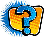 The view of question mark — Stock Vector