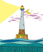The view of lighthouse — Stock Vector