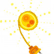 Sun with a plug — Stock Vector #45112639