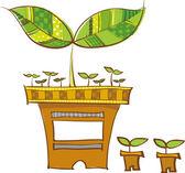 Plantas en macetas — Vector de stock