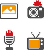 Set of defferent icons — Stock Vector