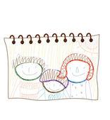 Children's drawing — Stock Vector