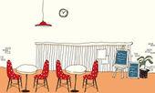 Cafe interior — Stock Vector