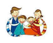 Happy family — Vettoriale Stock