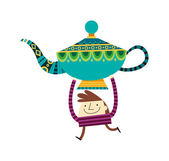 Boy holding Aladdin's lamp — Stock Vector