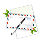 Letter and pencil — Stock Vector