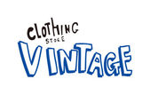 Clothing store vintage sign — Stock Vector