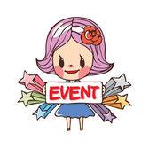 Veranstaltung für mädchen — Stockvektor