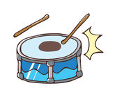 Drums picture — Vector de stock