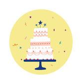 Torte in decoration — Vector de stock