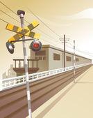 铁路站 — 图库矢量图片