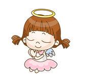 天使の女の子 — ストックベクタ