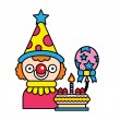Celebratory clown — Stock Vector #45594479