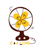 Fan cooling — Stock Vector