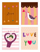 Collage of love photos — Stockvector