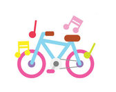 Sound bicycle — Stock Vector