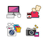Set of technology icons — Stock Vector