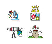 Set of science icons — Stock Vector