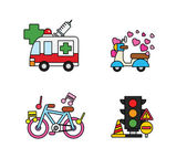 Set of transport icons — Stock Vector