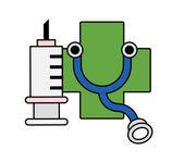 Objetos de medicina — Vector de stock