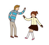 Couple dancing — Stockvektor