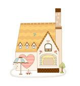 Belle maison — Vecteur