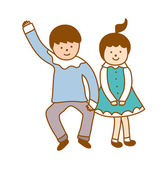 Paar dansen — Stockvector