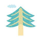 Fir-tree — Stock Vector