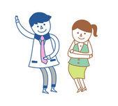 Couple dancing — Cтоковый вектор