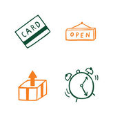Set of business shopping icons — Stock Vector