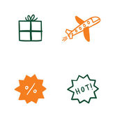 Set of special delivery icons — Stock Vector