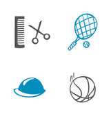 Set of different icons — Stock Vector