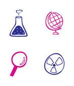 набор иконок, науки — Cтоковый вектор