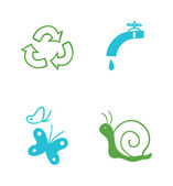 набор иконок, экологические — Cтоковый вектор