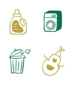 Set of home cleaning icons — Stock Vector