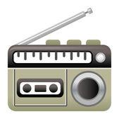 Tape recorder — Stock Vector