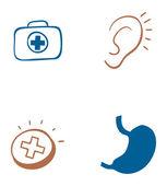ícones da medicina — Vetor de Stock