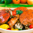 Stir fried crab with black pepper sauce — Stock Photo