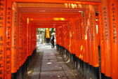 The Orange Torii gates — Stock Photo