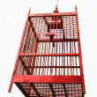 Empty wooden bird cage — Stock Photo