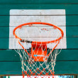 Old dirty outdoor basketball hoop — Stock Photo