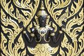 Thailand wall sculpture — Stock Photo