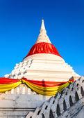 A Mon style Buddhist marble carved pagoda at Wat Poramai Yikawat on Koh Kret island. — Stock Photo