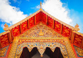 Thai style buddhist temple architecture roof — Stock Photo