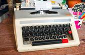 Old typewriter with Thai keys — Stock Photo