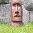Face of moai stone rock sculpture — Stock Photo