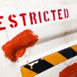 Restricted area notice on the wall — Stock Photo