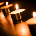 Burning candle light background — Stock Photo #34426849
