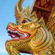 Stock Photo: Golden serpent statue head