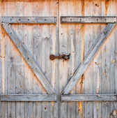 Detail of wooden barn door — Stock Photo
